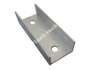 Łącznik aluminiowy do profili bądź szyn montażowych paneli fotowoltaicznych